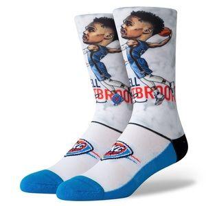 Stance Russell Westbrook Bighead OKC Thunder Socks